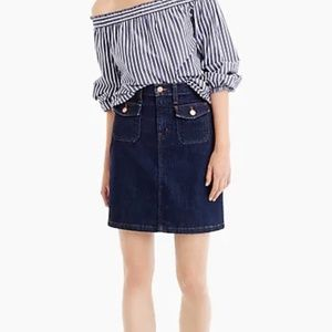j.Crew Patch Pocket Denim Skirt